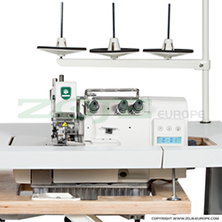 3-thread, mechatronic overlock machine with needles positioning - machine head - ZOJE ZJ893A-3-17