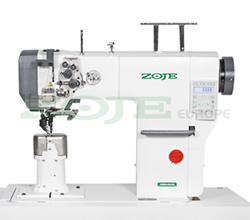 Automatic 2-needle post-bed lockstitch machine with bottom and upper roller feed, with AC Servo motor - machine head - ZOJE ZJ9620SA-D3-M-N2.4-3