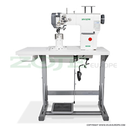 Automatic 2-needle post-bed lockstitch machine with bottom and upper roller feed, with AC Servo motor - complete sewing machine - ZOJE ZJ9620SA-D3-M-N2.4-3 SET