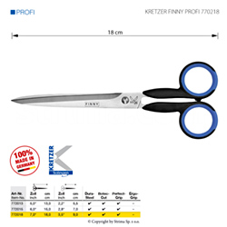 "Tailor's scissors, length 7""/18 cm, pointed tips"