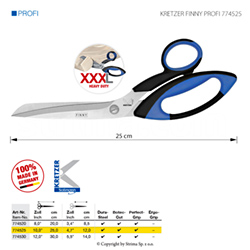 "Tailor's scissors for difficult and heavy fabrics, length 10""/25 cm"