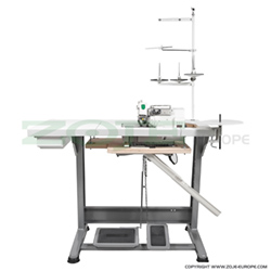4-thread, mechatronic double chainstitch overlock machine with needles positioning - complete machine - ZOJE ZJ893A-4-02x250-02 SET