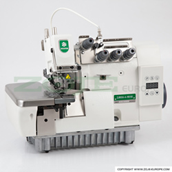 4-thread overlock machine (backlatching) all in one Mechatronic with built-in AC Servo motor and control box, with needles positioning - machine head - ZOJE ZJ893A-4-181