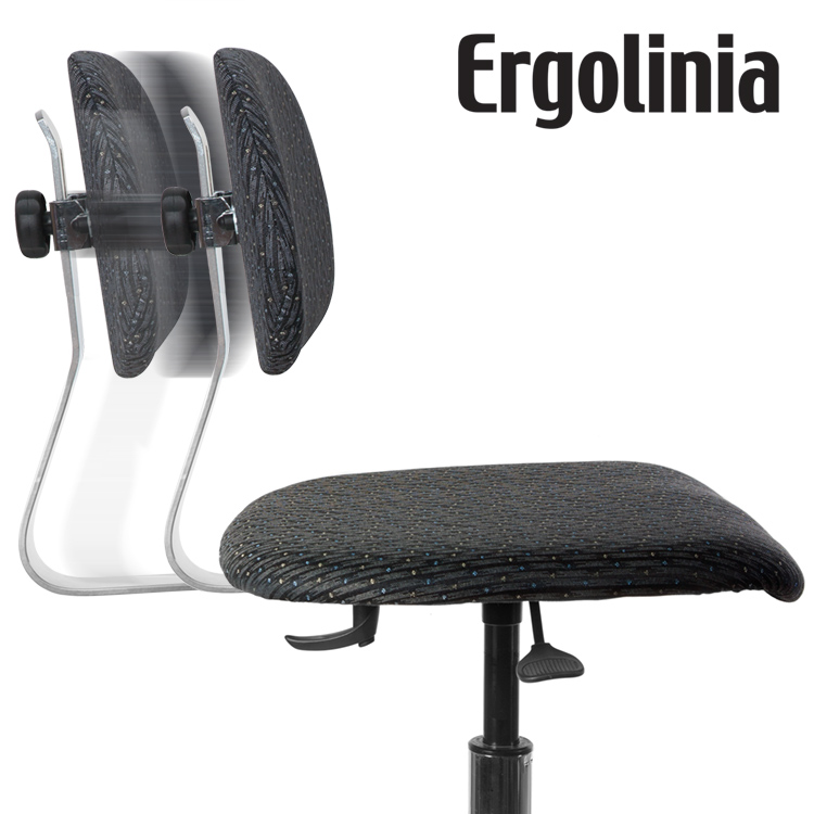 ERGOLINIA EVO2 PROFI - Industrial rotary chair - adjustable backrest, upholstered - pneumatic lift