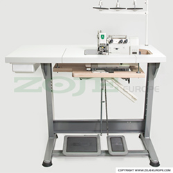 3-thread overlock machine for hemstitch on light and medium materials, mechatronic, and needle positioning - machine head
