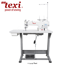 Upholstery and leather lockstitch machine with built-in AC Servo motor and control box (Mechatronic), bottom feed and walking foot, large hook-complete machine - TEXI WALKER WF AUT PREMIUM