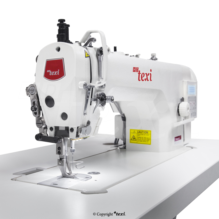 TEXI WALKER WF AUT PREMIUM EX - Upholstery and leather lockstitch machine with built-in Servo motor and control box (Mechatronic), bottom feed and walking foot, large hook - complete machine