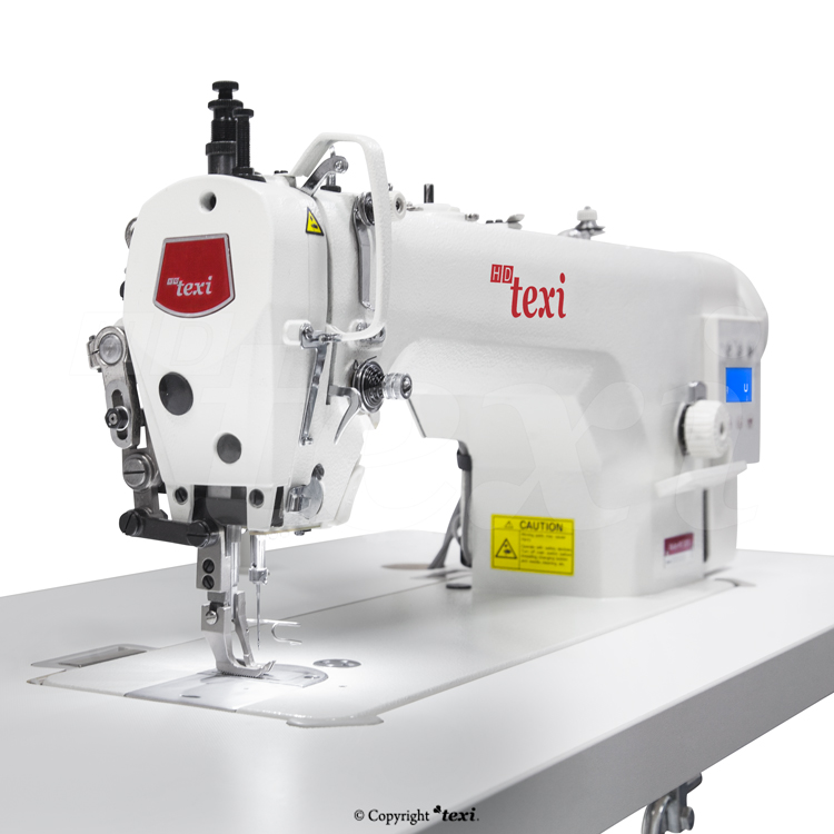 Upholstery and leather lockstitch machine with built-in Servo motor and control box (Mechatronic), bottom feed and walking foot, large hook - complete machine - TEXI WALKER WF SERVO PREMIUM EX