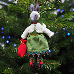Hand-embroidered Christmas tree decoration - HELP OF ST. NICHOLAS