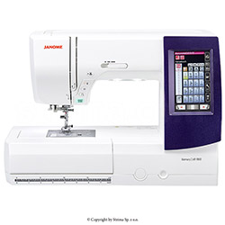 Computerized sewing and embroidery machine - 570 stitch programs, 175 embroidery patterns and 3 fonts