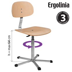 Industrial rotary chair (plywood) - ERGOLINIA 10004