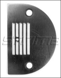 Throat plate with 5 grooves