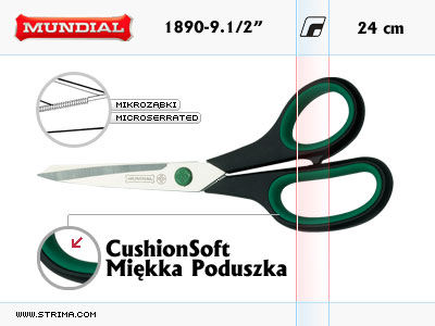 "1890-9.1/2"" MUNDIAL - CushionSoft dressmaker shears"