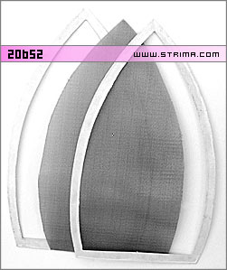 Wire mesh + frame insert for iron shoe INOX - Iron Master - 20652