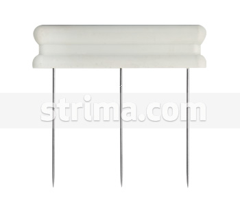 Needle bar with three needle in a row, 40mm needle length - 40002