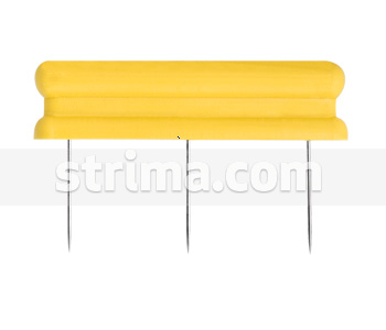 40007 - Needle bar with three needle in a row, 20mm needle length
