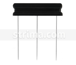 Needle bar with three needles in a row, 50mm needle length - 40009
