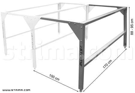 40030 - Table base for cutting table, 1 m long, 1,7 m width