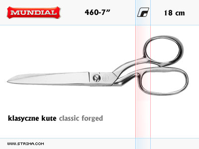 "460-7"" MUNDIAL - CLASSIC FORGED dressmaker shears"