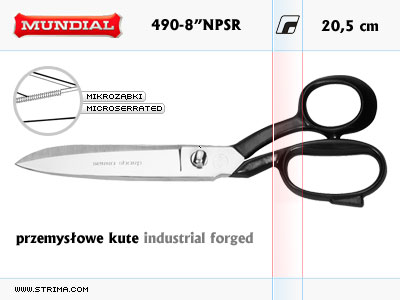 INDUSTRIAL FORGED dressmaker shears