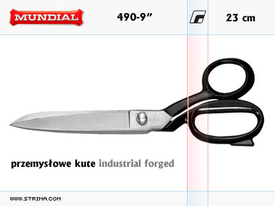 "490-9"" MUNDIAL - INDUSTRIAL FORGED dressmaker shears"