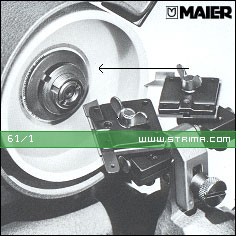 61/1 - MAIER Grinding wheel flange for machines 68/1 [L+R], 90 [L]
