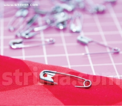 Safety pin steel nickel-plated, length 38mm [box - 1.000psc] - SAFETY PIN SN38/2