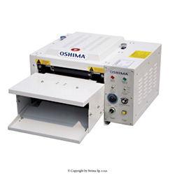 OSHIMA continuous fusing machine for pressing up shirt pockets and battens