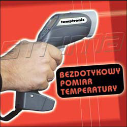 TEMPTRONIC - Temperature measuring gun, without touching -20 to 500C
