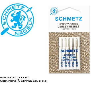 130/705 H SUK VHS - SCHMETZ ball point needles 130/705H-SUK, 5pcs. 2x70, 2x80, 1x90