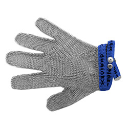 Protective glove, universal 5-digits, 4-size (blue) type SL 54 - S4 Blue