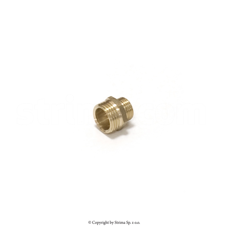 "Nipple with external thread 3/8"" x 1/2"""