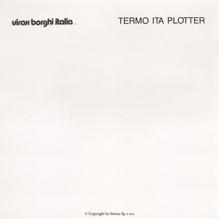TERMO ITA PLOTTER 165 - Heatseal plotter drawing paper, 165 cm width, roll length around 280 m