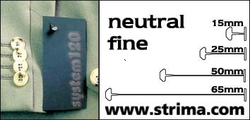 120 PPF NEUTRAL 065 - Tagging pins 65 mm fine, neutral, box 12.000 pcs