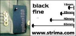 Tagging pins 40 mm fine, black, box 12.000 pcs