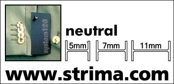 120 NYF NEUTRAL 005 - Tagging pins, nylon 5 mm fine, box 12.000 pcs