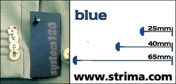 Tagging pins 65 mm standard, blue, box 12.000 pcs