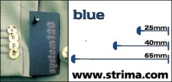 Tagging pins 40mm standard, blue, box 12.000 pcs