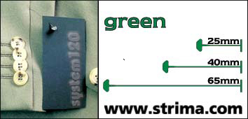 Tagging pins 65 mm standard, green, box 12.000 pcs