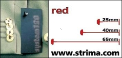 Tagging pins 65 mm standard, red, box 12.000 pcs