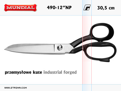 "490-12"" NP MUNDIAL - INDUSTRIAL FORGED dressmaker shears"