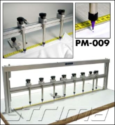 Mutli-function auto-vanishing pen points marker for button holes, collars and cuffs. - META PM-009 SET