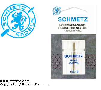130/705 H WING SES - SCHMETZ wing needle 130/705H WING, 1pc. 1x100
