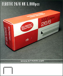ELASTIC 26/6 NK 5.000pcs - Staples - nickel-plated