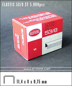 ELASTIC 53/8 NK 5.000pcs - Staples - nickel-plated