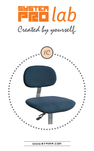 SYSTEM PRO LAB 1C - Seat and back-rest - upholstered