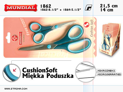 CushionSoft dressmaker scissors (2 pcs on a blister)