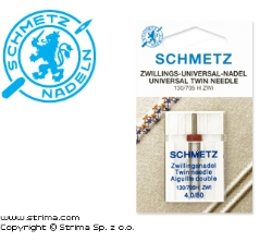 SCHMETZ twin needle 130/705H ZWI, distance 4,0 mm, 2x80