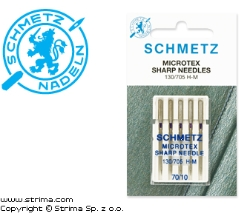 SCHMETZ microtex needles 130/705H-M, 5pcs. 5x70