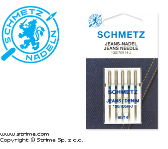 SCHMETZ jeans/denim needles 130/705H-J, 5pcs. 5x90